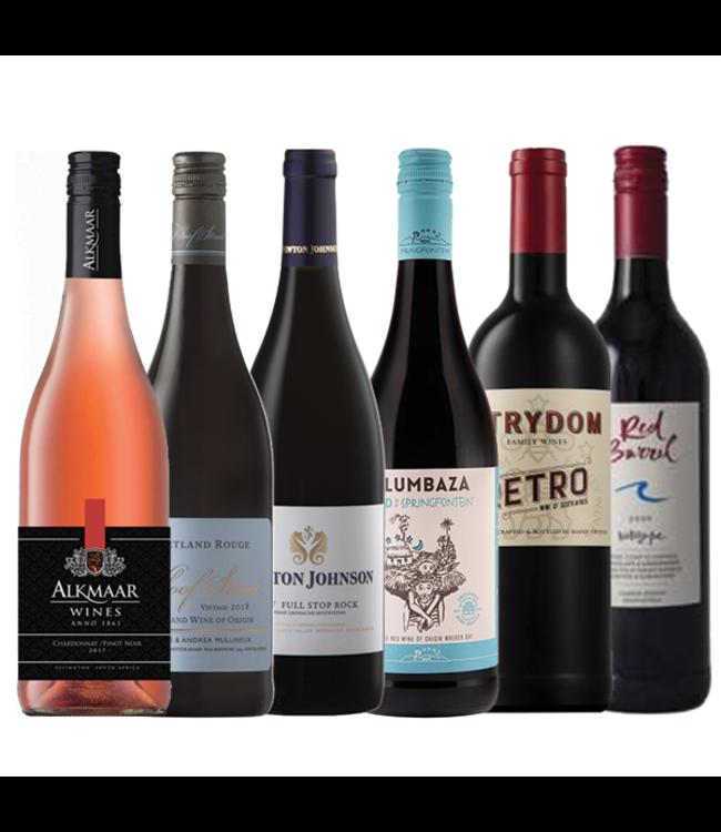 Proefpakket Zuid-Afrikaanse wijnen rood - 6 flessen