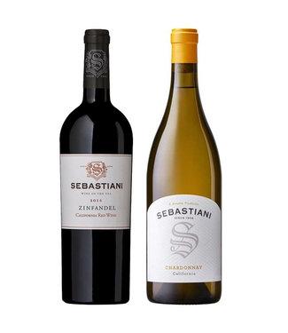 Set van 2 Sebastiani wijnen