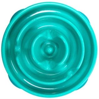 Voerbak slo-bowl mini drop teal lichtblauw 22cm