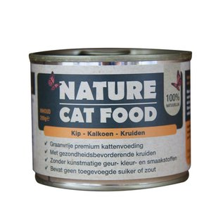 Nature Nature cat food kip, kalkoen & kruiden 200gr
