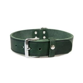 Das Lederband Leather collar Weinheim 25mm Hunting Green 47cm adjustable 37-42cm