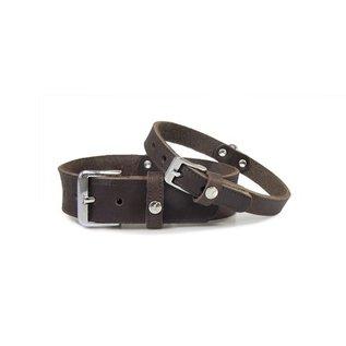 Das Lederband Lederkette Weinheim 25mm Mocca 47cm verstellbar 37-42cm