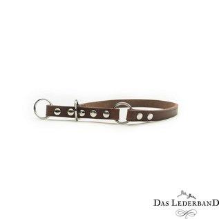 Das Lederband Sliphalsband met stop Weinheim B:14mm L:40cm Mocca