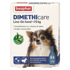 Beaphar Dimethicare Line-on Hond tot 15kg 6pip 1,5ml