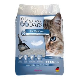 66 Days 66 Days Cotton Light 14 ltr cat litter