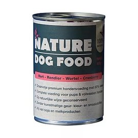Nature Dog Food Nature Dog Hert, Rendier, Wortel & Cranberrie  400Gr