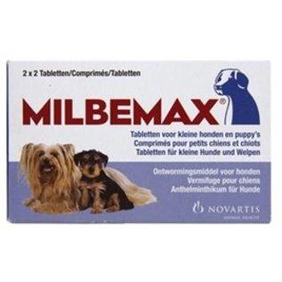 Milbemax Milbemax tablet ontworming puppy/kleine hond 2x2 Tabletten