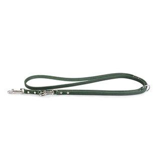 Das Lederband Lederregulierleine Weinheim B: 18mm L: 200cm Jagdgrün