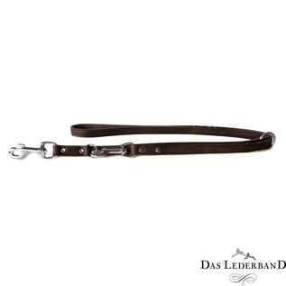 Das Lederband Leren verstelbare lijn Weinheim B:12mm L:200cm Mocca