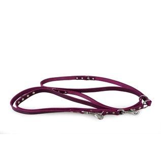 Das Lederband Leren verstelbare lijn Violet - Weinheim - B:18mm L:300cm