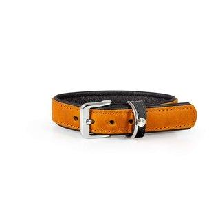 Das Lederband Leren Halsband Vancouver Kastanje/Zwart 30mm/50cm