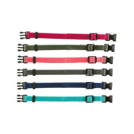 Trixie Puppy Halsband 17-25cm bruin/beige/grijs/roze/blauw/oranje 6st