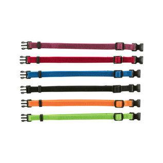 Trixie Puppy Halsband 17-25cm set paars/rood/blauw/zwart/oranje/appeltjesgroen 6st