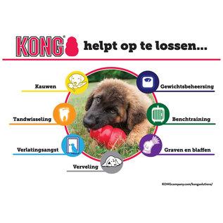 KONG KONG Puppy Large Roze 10x7x7cm
