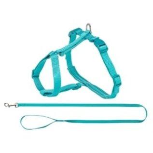 Trixie Kattentuig Premium met Riem Turquoise 33-57x1,3cm
