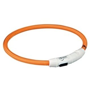 Trixie Flash Lichthalsband USB TPU/Nylon Oranje 65cm