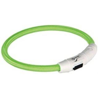 Trixie Flash Lichthalsband USB TPU/Nylon Groen 65cm