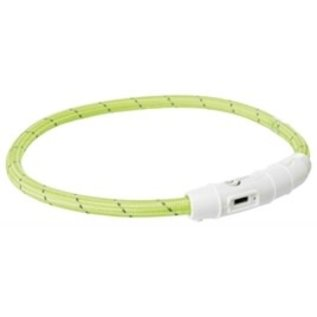 Trixie Flash Lichthalsband USB TPU/Nylon Groen 35cm