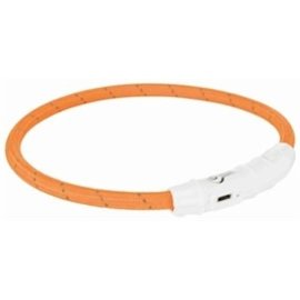 Trixie Flash Lichthalsband USB TPU/Nylon Oranje 45cm