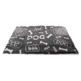 Vetbed Vetbed Dog Print Grijs/Wit 75x100cm