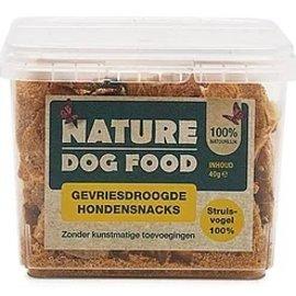 Nature Dog Food Nature Dog Food Snack - 100% Struisvogel