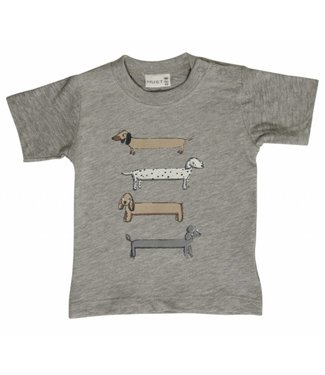 Hust & claire Hust & Claire boys tshirt with dogs
