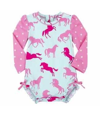 Hatley Swimsuit Ponies & Polka Dots Hatley