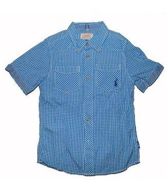 LCKR Chemise à carreaux bleue à carreaux LCKR