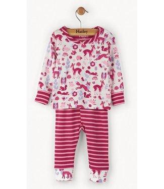 Hatley 2-delige meisjes pyjama woodland Hatley
