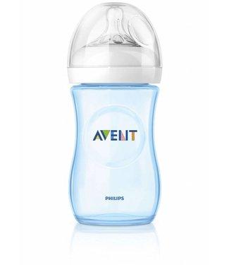 Avent Avent natural blauwe babyfles 260ml