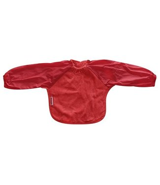 Silly Billyz Red bib with long sleeve