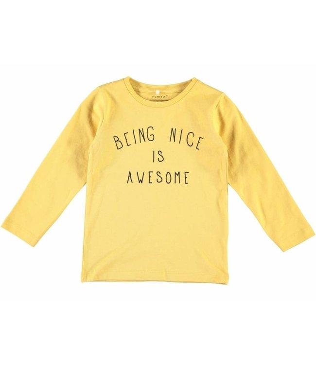 Name-it Name-it yellow boys t-shirt Damsko
