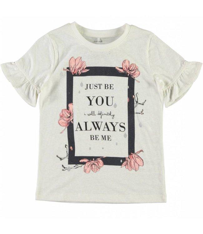 Name-it Name-it wiite meisjes t-shirt Jobila
