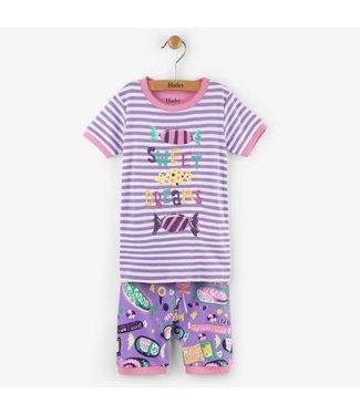 Hatley Hatley 2-piece short pajama Kitty candy