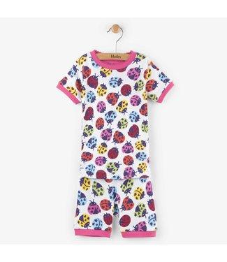 Hatley Hatley 2-piece short pajama Ladybirds