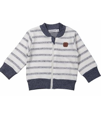 Dirkje kinderkleding Jongens cardigan blue stripes