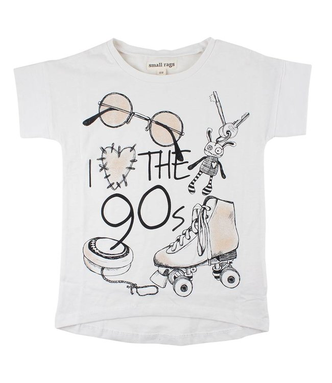 Rags Kinderkleding.Small Rags Witte T Shirt The 90 S Baby En Kinderspeciaalzaak Thilo