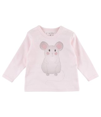 Fixoni Fixoni pink girls t-shirt mouse