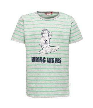 Lego wear Legowear T-shirt riding waves groen