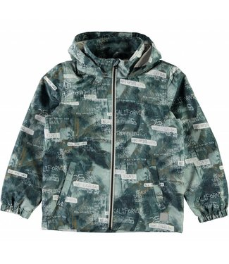 Name-it Name-it jacket Mellon palm text