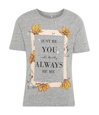 Name-it Name-it 't-shirt Jobila Gris melange