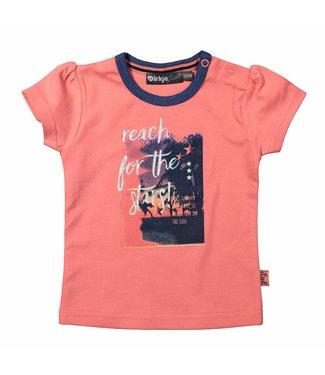 Dirkje kinderkleding Dirkje 't shirt Reach te étoiles - corail rose
