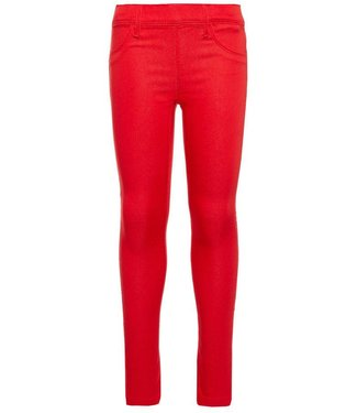 Name-it Name-it girls red leggings pants TINNA True red