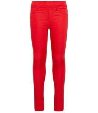 Name-it Name-it meisjes rode legging broek TINNA True red