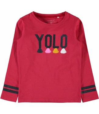 Name-it Name-it meisjes t-shirt LAYOLO True red