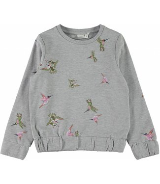 Name-it Meisjes sweater LILIAN Grey Melange