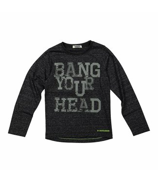 Dj Dutchjeans Djdutchjeans zwarte jongens t-shirt  Bang your head