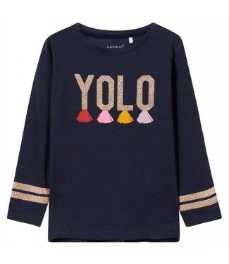 Name-it Name-it girls t-shirt LAYOLO Dark sapphire