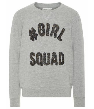 Name-it Name-it grijze meisjes sweater NETTA