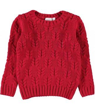 Name-it Name-it red girls sweater NARID